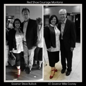 Blessed,met and learned from so many great leaders, entrepreneurs, and innovators today! Lt. Governor and Governor took time for Red Shoe Courage!
